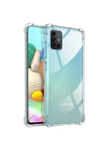 Microsonic Shock Absorbing Kılıf Samsung Galaxy A71 Şeffaf Renksiz